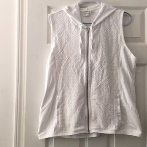 Chico's Zenergy White Lace Vest